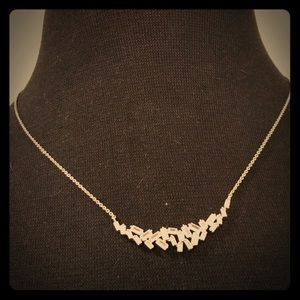 Banana Republic crystal cluster necklace
